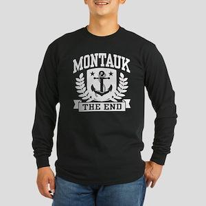 Montauk The End Long Sleeve Dark T-Shirt