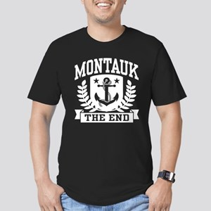 Montauk The End Men's Fitted T-Shirt (dark)