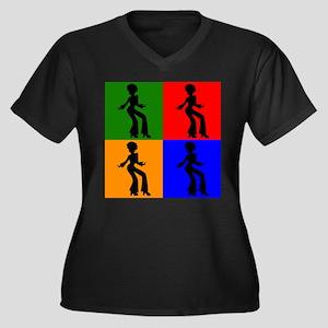 Disco Woman Pop Art Plus Size T-Shirt