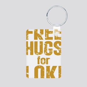 Free Hugs For Loki Aluminum Photo Keychain