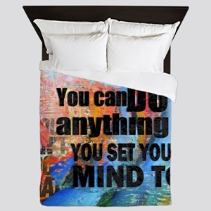 YOU CAN DO ANYTHING Queen Duvet