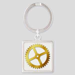 GoldCog Square Keychain