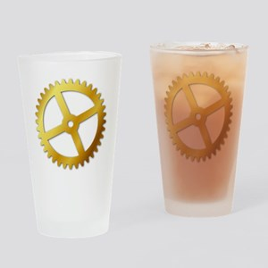GoldCog Drinking Glass