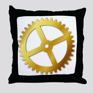 GoldCog Throw Pillow