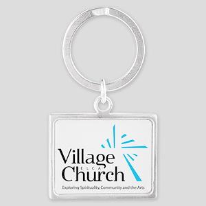 Village Church Landscape Keychain