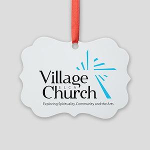 Village Church Picture Ornament
