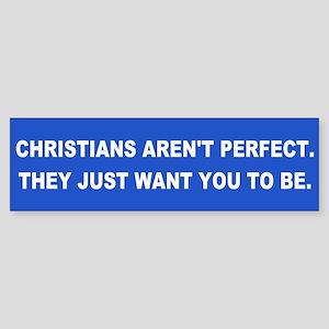 CHRISTIANS Bumper Sticker