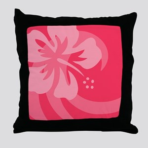 Hibiscus Pink Car Magnet Throw Pillow