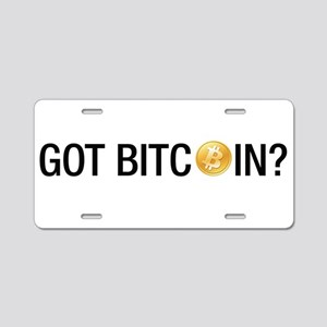 Got Bitcoins? Aluminum License Plate