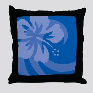 Hibiscus Blue Car Magnet Throw Pillow