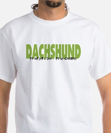Dachshund ADVENTURE White T-Shirt