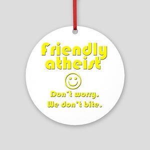 friendly-atheist-nobite-dark Ornament (Round)