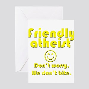 Atheist greeting cards cafepress friendly atheist nobite dark greeting cards m4hsunfo