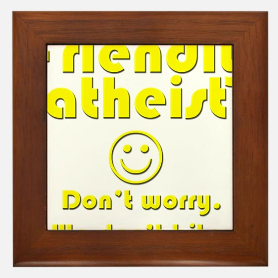 friendly-atheist-nobite-dark.png Framed Tile