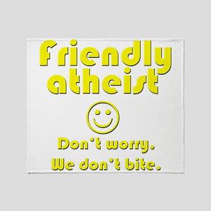 friendly-atheist-nobite-dark Throw Blanket
