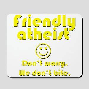 friendly-atheist-nobite-dark Mousepad