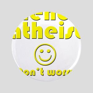"""friendly-atheist-nobite-dark 3.5"""" Button"""