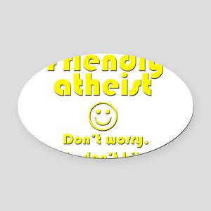 friendly-atheist-nobite-dark Oval Car Magnet