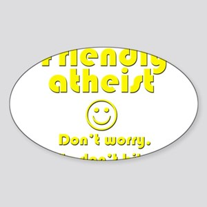 friendly-atheist-nobite-dark Sticker