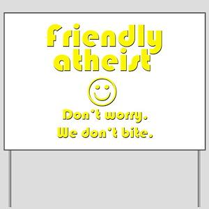 friendly-atheist-nobite-dark Yard Sign