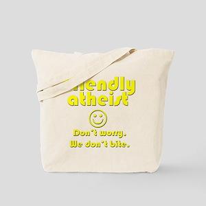 friendly-atheist-nobite-dark Tote Bag