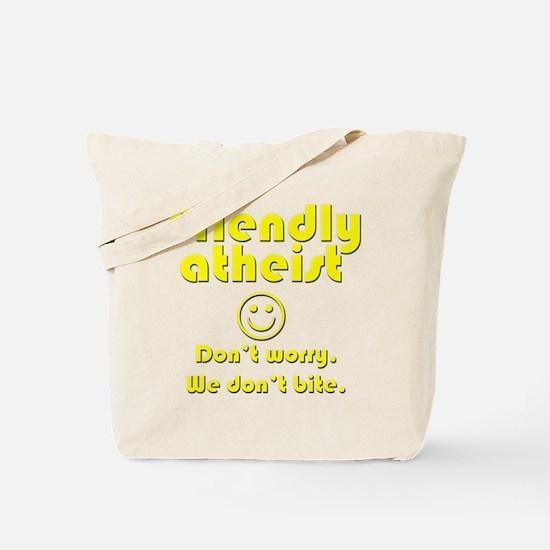 friendly-atheist-nobite-dark.png Tote Bag