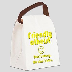 friendly-atheist-nobite-dark Canvas Lunch Bag