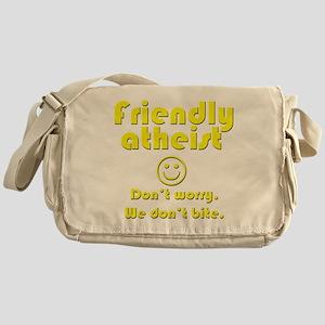 friendly-atheist-nobite-dark Messenger Bag