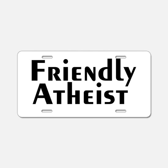 friendlyatheist2.png Aluminum License Plate