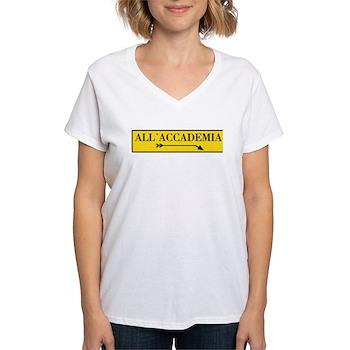All'Accademia, Venice (IT) Women's V-Neck T-Shirt