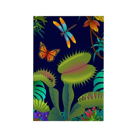 venus-fly-trap-in-the-jungle-nook Rectangle Magnet