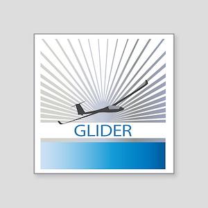 """Aircraft Glider Square Sticker 3"""" x 3"""""""