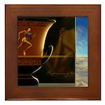 Running to Win Framed Tile
