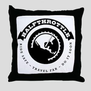 Halfthrottle circular design Throw Pillow