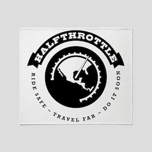 Halfthrottle circular design Throw Blanket