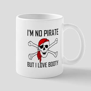 Pirate Love Booty Skull Cross Bones Mugs