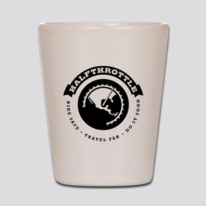Halfthrottle circular design Shot Glass