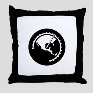 halfthrottle-logo-white for DARK shir Throw Pillow