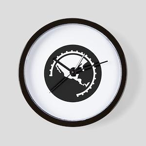 halfthrottle-logo-white for DARK shirts Wall Clock
