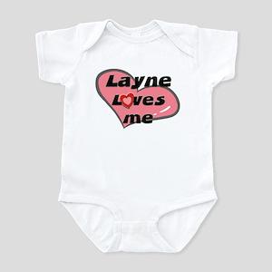 layne loves me  Infant Bodysuit