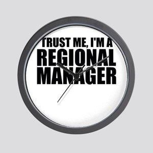 Trust Me, I'm A Regional Manager Wall Clock