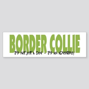 Border Collie ADVENTURE Bumper Sticker
