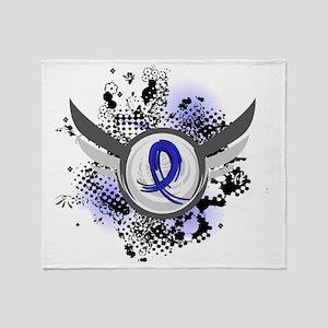 D Wings and Ribbon Syringomyelia Throw Blanket