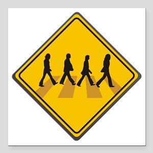 """Abbey Road Xing Square Car Magnet 3"""" x 3"""""""