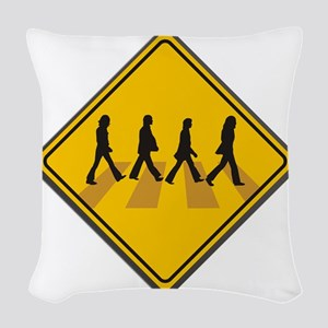 Abbey Road Xing Woven Throw Pillow