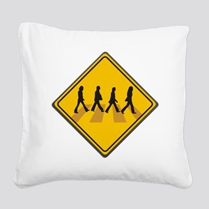 Abbey Road Xing Square Canvas Pillow