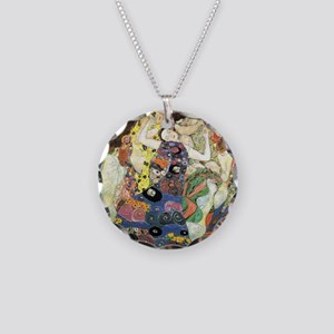 Klimt Virgin Necklace Circle Charm