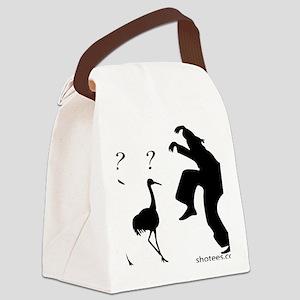 Crane VS Ninja Canvas Lunch Bag