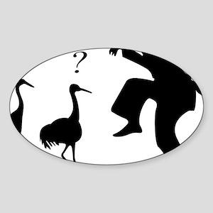 Crane VS Ninja Sticker (Oval)
