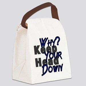 why keep your head down - dbsk Canvas Lunch Bag